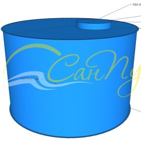 Цилиндрическая емкость 6 кубов